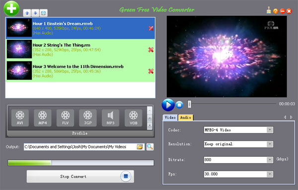 Green free video converter screenshot